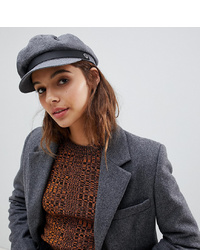Brixton Grey Cotton Baker Boy Hat