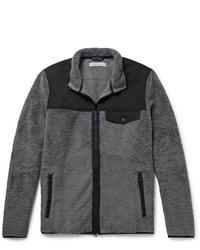 Charcoal Fleece Bomber Jacket