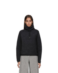 Nike Grey Fleece Therma Turtleneck