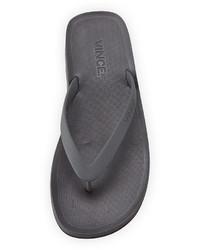 7509adc41100 ... Vince Tyler Rubber Flip Flop Sandal Graphite ...