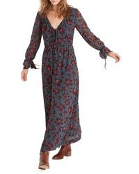 Madewell Willowleaf Tie Sleeve Maxi Dress