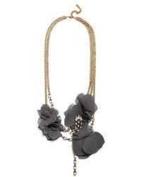 BaubleBar Eliza Dual Strand Floral Necklace