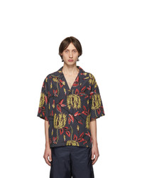 Prada Grey Floral Printed Shirt