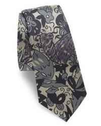 Burberry Stanfield Floral Silk Tie