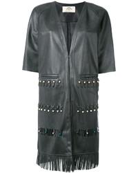 Urban Code Urbancode Fringed Short Sleeved Coat