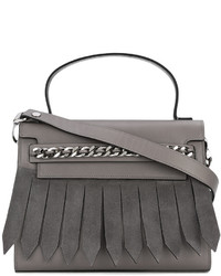 Casadei Chain Trim Fringed Front Tote