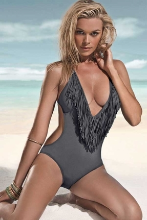 ... L-Space Lspace Swimwear Stardust Fringe One Piece In Grey ... 62f09da63