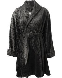 Lanvin vintage faux fur belted coat medium 97074