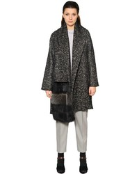 Wool cotton coat w fur detail medium 4417814