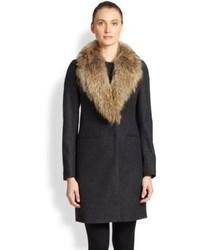 SAM. Crosby Fur Collar Coat