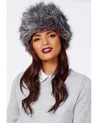 Missguided Raziya Faux Fur Hat Grey