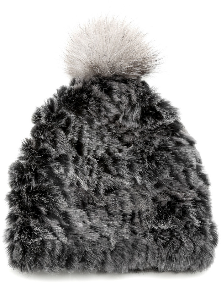 51f13ec85 Mitchies Matching Rabbit Fur Knit Hat