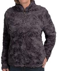 Dylan Silky Faux Fur Jacket Mock Neck
