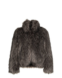 Philosophy di Lorenzo Serafini High Collar Short Faux Fur Coat