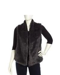 Charcoal Fur Vest