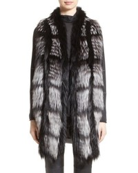 Genuine fox fur front cashmere vest medium 5209679