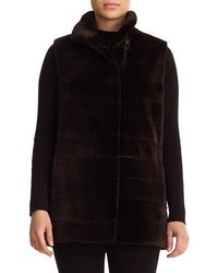 Reversible sheared mink fur vest medium 5253593