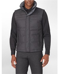 Calvin Klein Textured Zip Front Padded Vest