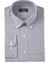 Club Room Estate Classic Fit Wrinkle Resistant Gingham Dress Shirt Created For Macys