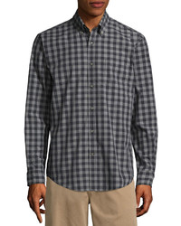 St Johns Bay St Johns Bay Long Sleeve Grid Button Front Shirt