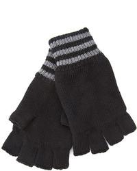 21men 21 Striped Fingerless Gloves