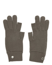 Rick Owens Grey Larry Touchscreen Gloves
