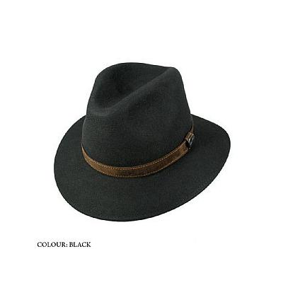 Borsalino Hats Borsalino Crushable Safari Fedora Black d72f216e35a
