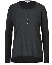 James Perse Cotton Henley