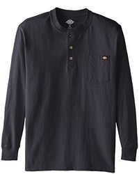 Dickies long sleeve heavyweight henley medium 285650