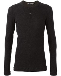 Dolce & Gabbana Fitted Henley Top