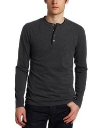 French Connection Contrast Sneezy Long Sleeve Henley Shirt
