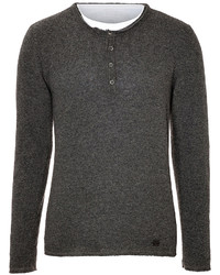 True Religion Layered Knit Henley