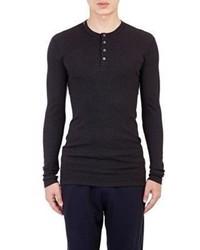 Dolce & Gabbana Rib Knit Henley Black