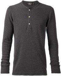 Rrl ribbed henley t shirt medium 285672
