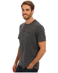 Kenneth Cole Reaction Super Soft Henley Neck Short Sleeve Tee Shirt