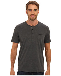 Kenneth Cole Reaction Super Soft Henley Neck Short Sleeve Tee Shirt