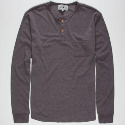 Wellen Brosnan Henley Thermal Charcoal In Sizes Small Large Medium X Large For 226972110