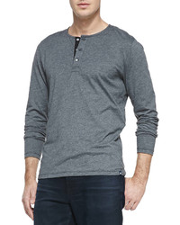 AG Adriano Goldschmied Commute Long Sleeve Henley Charcoal
