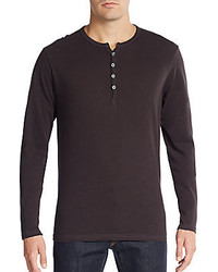 Saks Fifth Avenue Cotton Henley Tee