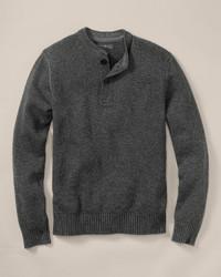 Signature cotton henley sweater medium 119699