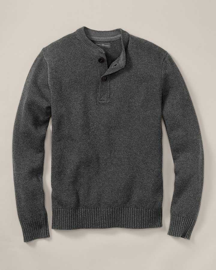 Eddie Bauer Signature Cotton Henley Sweater Where To Buy How To Wear