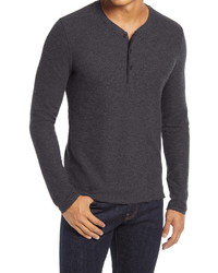 Billy Reid Thermal Knit Cotton Blend Henley