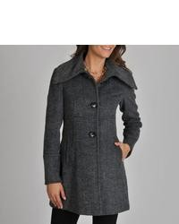 Asymmetrical herringbone coat medium 25952