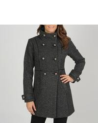 Double breasted herringbone coat medium 25953