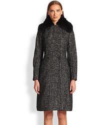 Etro Herringbone Long Coat