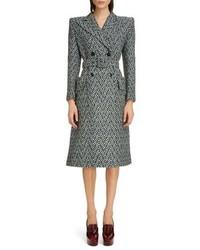 Givenchy Herringbone Wool Blend Coat