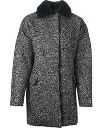 MSGM Herringbone Pattern Oversized Coat