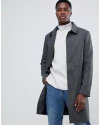 KIOMI Coat In Grey Herringbone