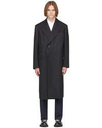 Alexander McQueen Grey Herringbone Oversized Tailored Double Breasted Coat