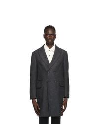 Z Zegna Grey Textured Coat